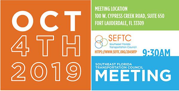 SEFTC Public Meeting Oct. 4, 2019