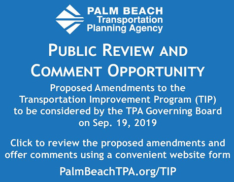 Public Comment Opportunity-Proposed Amendments to the Transportation Improvement Program (TIP)