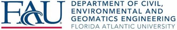 Florida Atlantic University - Dept. of Civil, Environmental and Geomatics Engineering