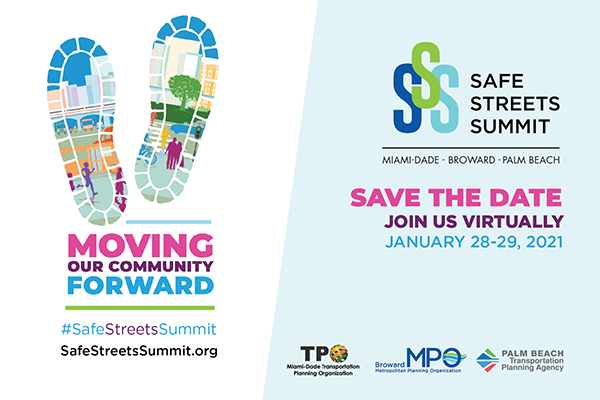 Save the Date! Jan. 28-29, 2021 Virtual Safe Streets Summit
