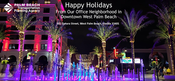 Happy Holidays from the TPA Office in Downtown West Palm Beach