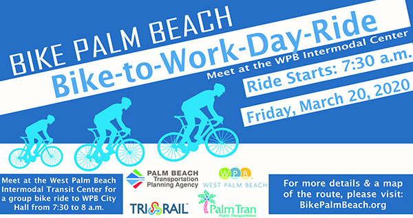 TPA Bike-to-Work Day Group Ride on March 20, 2020