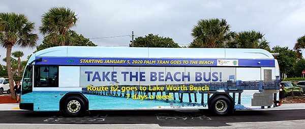 Palm Tran's newly extended Route 62 bus includes a new stop at the beach in Lake Worth Beach