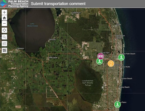 Interactive public comment map