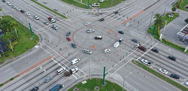 Temporary Roundabout at Okeechobee Blvd. and Jog Rd.