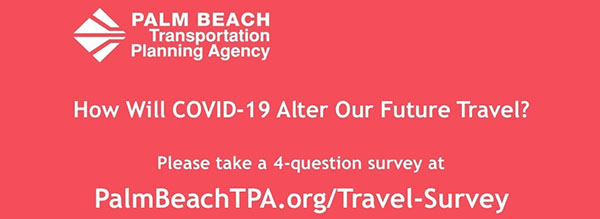 COVID-19 Travel Survey-Click to take the 4-question survey