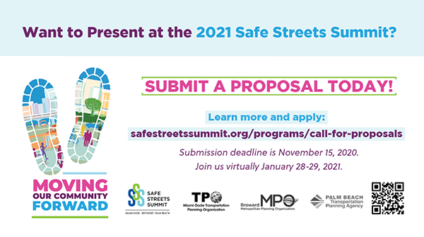 Safe Streets Summit Speaker Proposals Due Nov. 15, 2020
