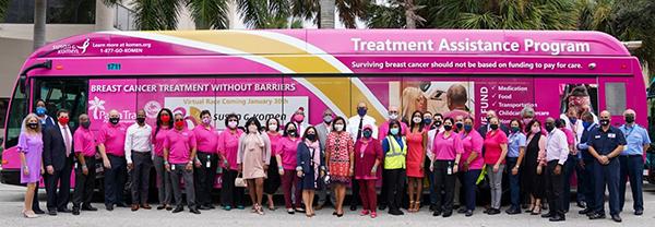 Palm Tran Bus - Breast Cancer Awareness