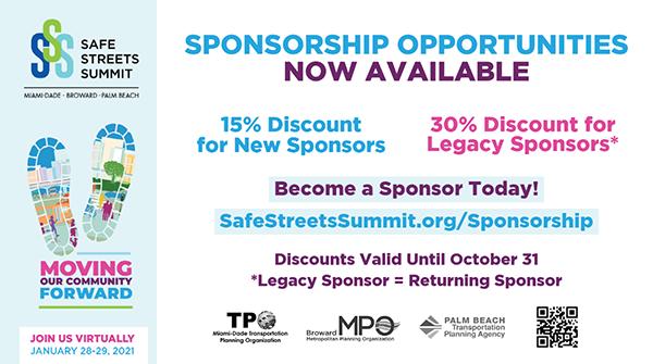 Safe Streets Summit Sponsor Discount Deadline