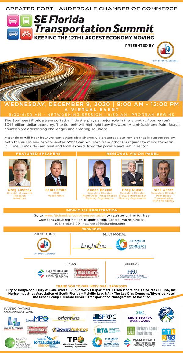 SE Florida Transportation Summit Flyer 12/9/2020